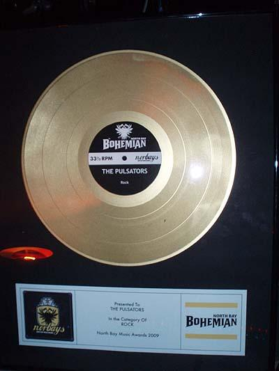 The Pulsators win the Bohemians Norbay award for best rock band!